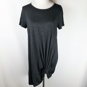 SOLD Madewell Gray Swingy T Dress Jersey Charcoal